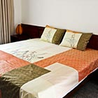 Sunshine lotus reversible bedspread