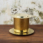 Reaching Out bronze coffee filter
