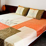 Sunshine lotus reversible bedspread